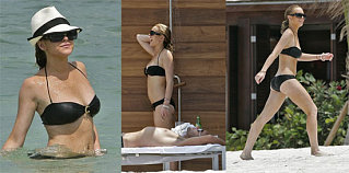 Lohan Readying Up Her Bikini Collection