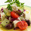 Fast & Easy Dinner: Greek Salad with Saganaki