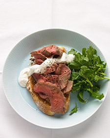 Fast & Easy Dinner: Open-Face Roast Beef Sandwich