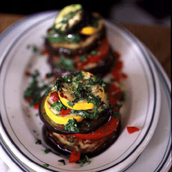 Layered Side: Grilled Vegetable Stacks