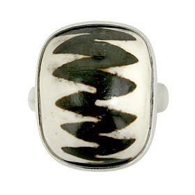 $39.00: Sterling Silver Large Mud Bead Ring by Sajen: Jewelry & Watches