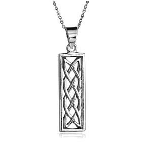 "$23.99: Sterling Silver Celtic Design Rectangular Dangle Pendant, 18"": Jewelry & Watches"