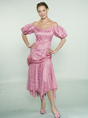"""SAG AWARD """"That one was really special,"""" says Thomas of this pink lace gown with deflated sleeves."""