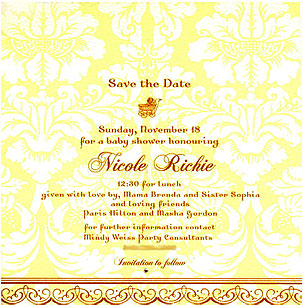 Celebaby: Nicole Richie's Baby Shower Invitation
