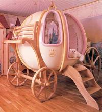 Custom made Fantasy Coach bed for girls