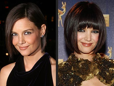 KATIE HOLMES: BANGS OR NO BANGS?