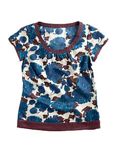 Fall Looks for Work:: Printed Silk Top at Boden
