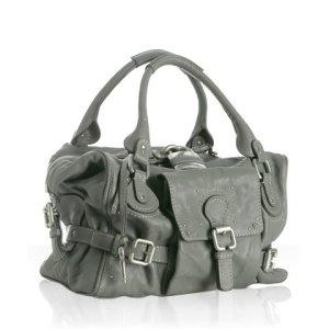 Chloe grey kid &#039;Paddington&#039; medium satchel