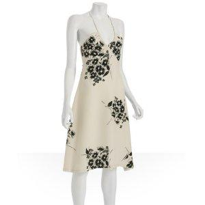 Jill Stuart ivory silk floral &#039;Avery&#039; sl