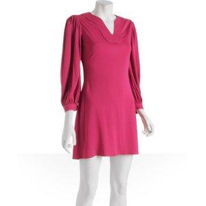 Y-yigal hot pink stitch detail tunic