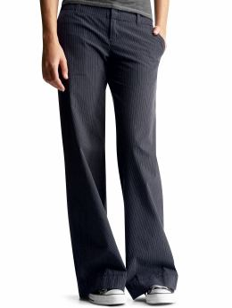Pants Review! Gap's Pinstripe Casual Wide Leg Pants