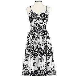 Cheap Chic - Black & White Print - JCPenney: Bisou Bisou printed slip dress | TEAMSUGAR