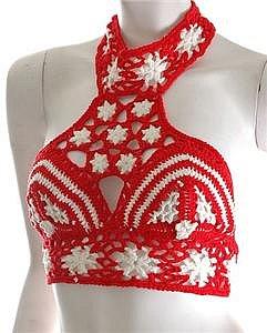 Hippie Boho Crochet Choli Top Halter High Neck Gypsy  - (eBay item 320149241528 end time Sep-16-07 19:42:46 PDT)