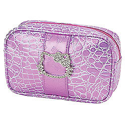 Hello Kitty Cosmetic Pouch: Croc