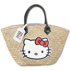 Hello Kitty Straw Basket