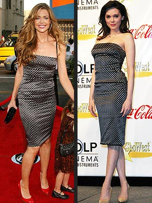 Who looks better in this dress- Rose McGowan or Denise Richards??