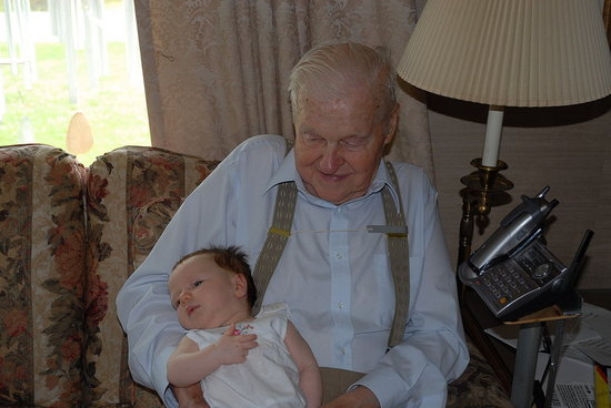 This was the first time I met my great grandpa