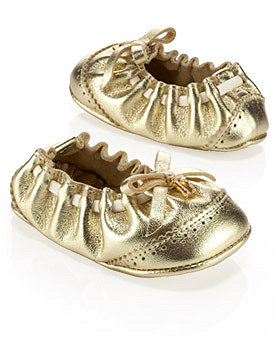 eLUXURY - Dior - Metallic Leather Ballerina baby Dior