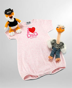 eLUXURY - D&G Dolce & Gabbana - Onesie Gift Set with Bubble and Dee & Gee,