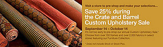 Sale Alert: Custom Upholstery Sale at Crate and Barrel