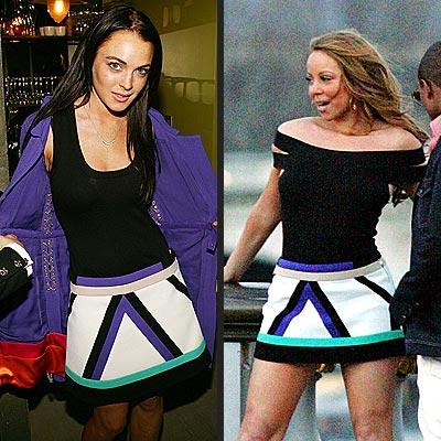 Fashion Faceoff: Lindsay Lohan vs. Mariah Carey