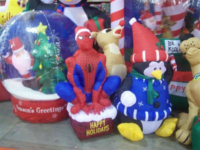 Help me find a Spiderman Lawn statue for Christmas