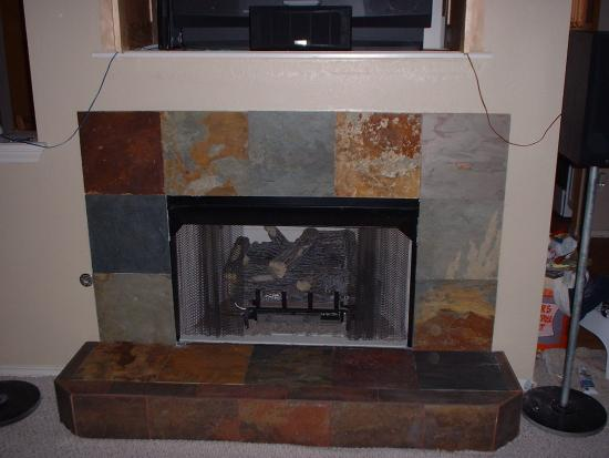 Raised Fireplace Hearth Ideas 550 x 413
