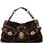 Coach - LEIGH EMBOSSED SUEDE POCKET FLAP