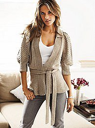 Victoria&#039;s Secret - Puff-sleeve cardigan sweater