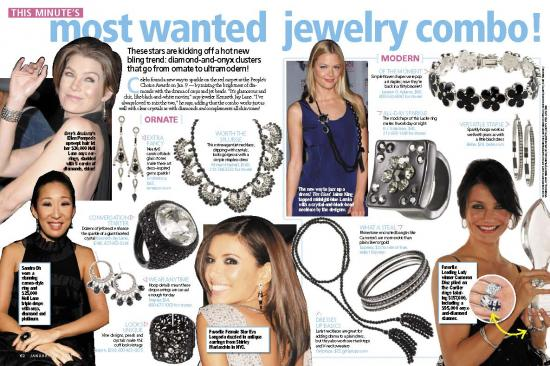 Trend Alert: Diamond & Onyx Jewelry