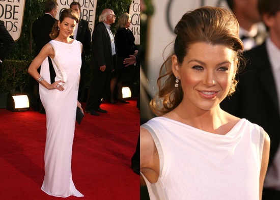 The Golden Globes Red Carpet: Ellen Pompeo