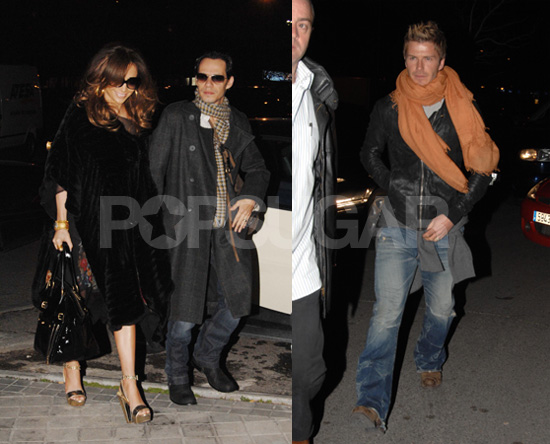David Shows J-Lo and Marc Where to Dine in Madrid