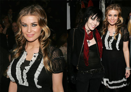 Carmen Catches Up Joan Jett at Anna Sui