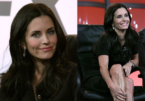 Courteney and Jen Reunite on Dirt