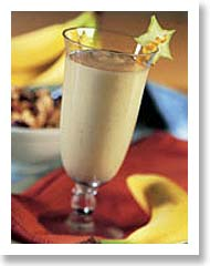 Snack Attack:  Banana Ice Smoothie