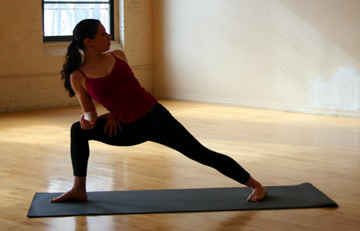 YOGA CHALLENGE:  Twisting Extended Side Angle