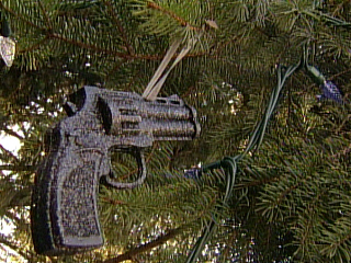 Funny or Stupid? Gun Christmas Ornaments