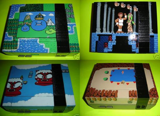 Totally Geeky or Geek Chic? Decorated NES Consoles