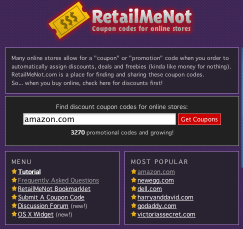 Website of the Day: Retailmenot.com