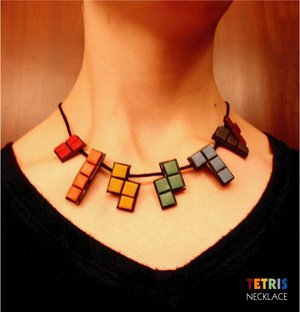 Totally Geeky or Geek Chic? Tetris Necklace