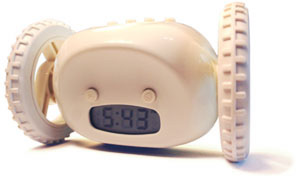 An Alarm Clock That Rolls Out of Bed, So You Will Too
