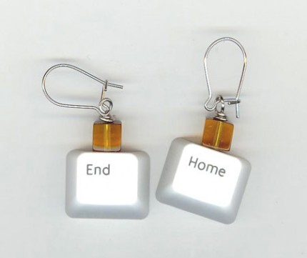 Totally Geeky or Geek Chic? Keyboard Key Earrings