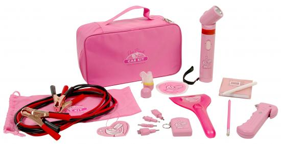 Versatile Pink Car Tools Kit