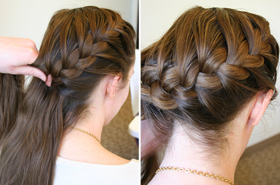 How To Do A Side French Braid Popsugar Beauty