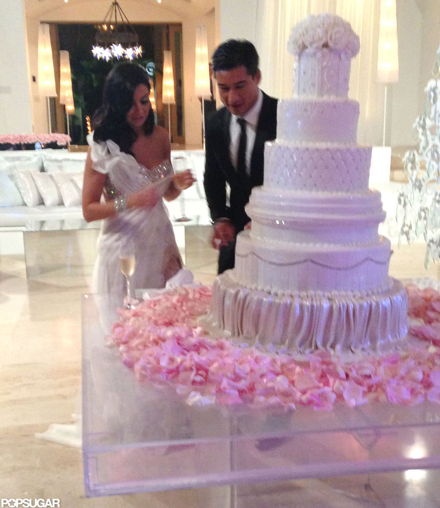 mario lopez and courtney wedding cake mario and mazza s wedding pictures 17148