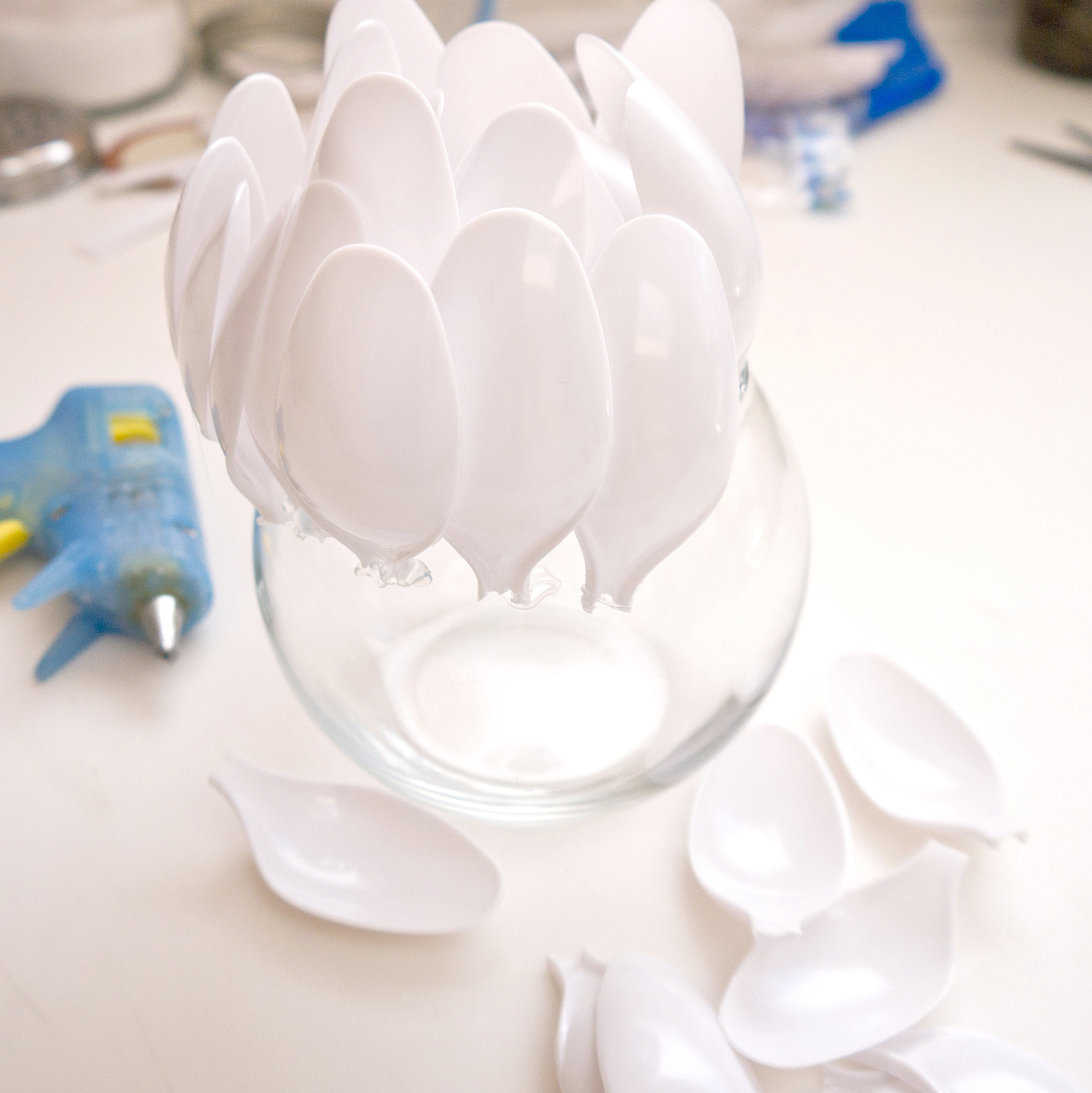 Diy Plastic Spoon Candle Holder Popsugar Smart Living